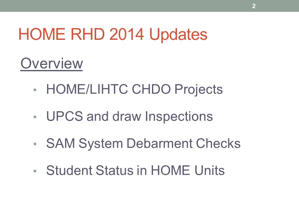 HOME RHD 2014 Updates SAM System Debarment Checks 13