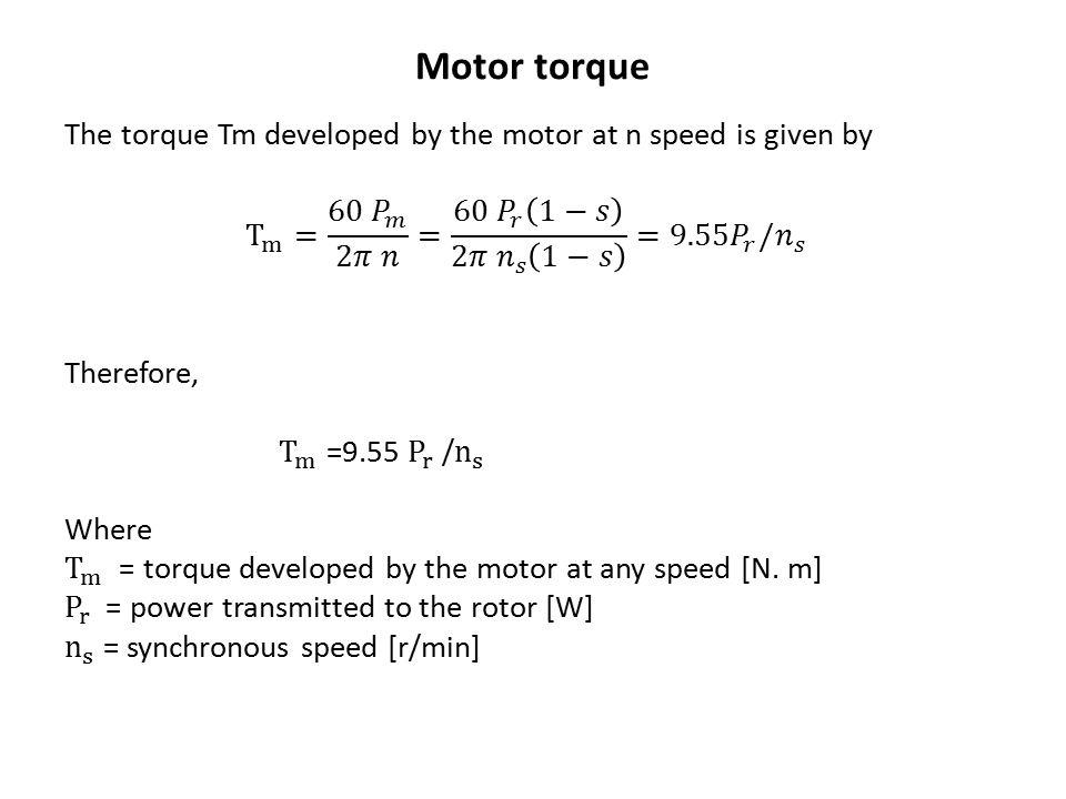Motor torque