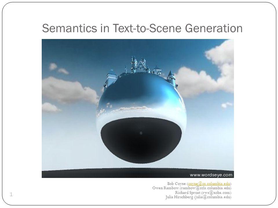 click Display WordsEye: Create 3D scenes with language 2