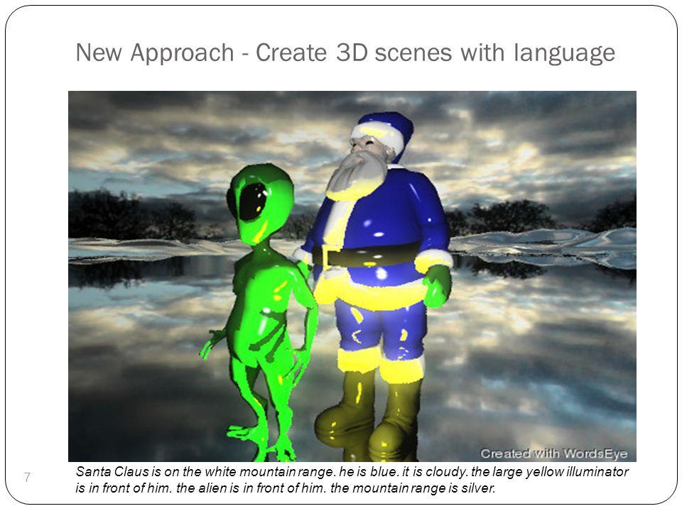 WordsEye: Create 3D scenes with language 8