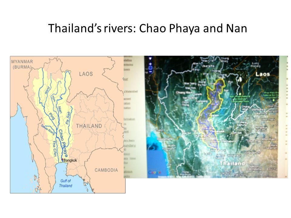 Thailand's rivers: Chao Phaya and Nan