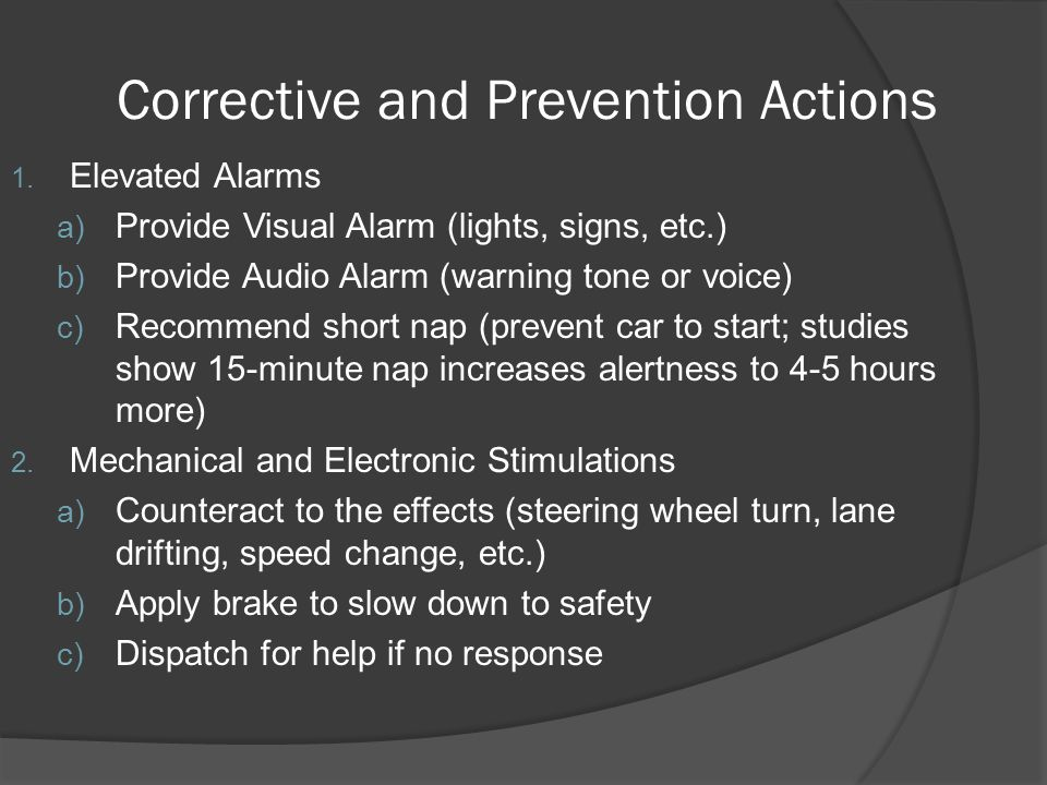 Corrective and Prevention Actions 1.