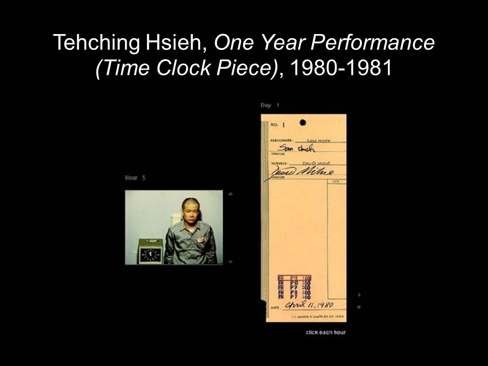 Tehching Hsieh, One Year Performance (Time Clock Piece), 1980-1981