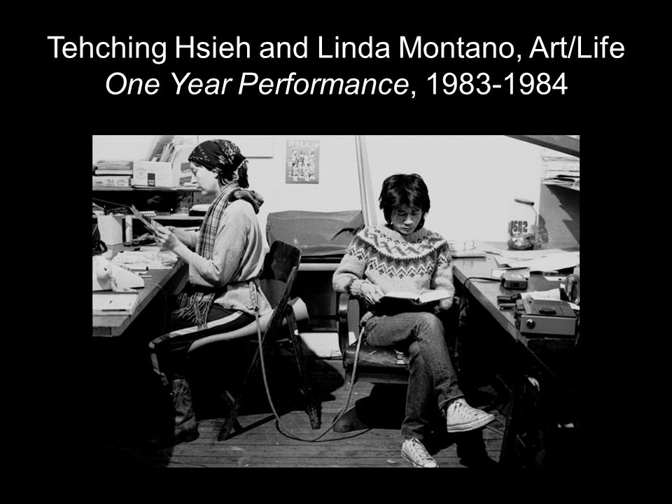 Tehching Hsieh and Linda Montano, Art/Life One Year Performance, 1983-1984