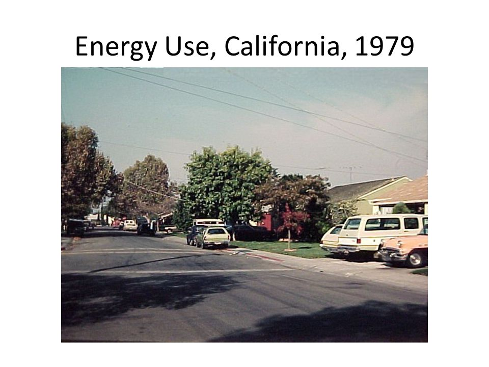 Energy Use, California, 1979