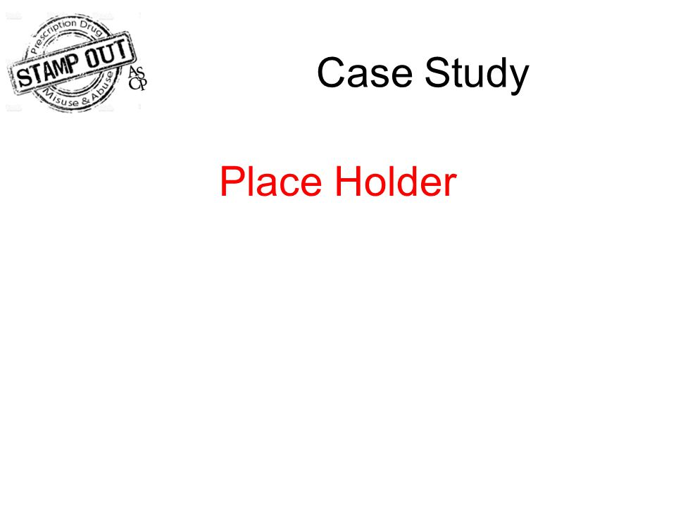 Case Study Place Holder