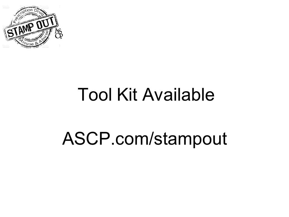 Tool Kit Available ASCP.com/stampout