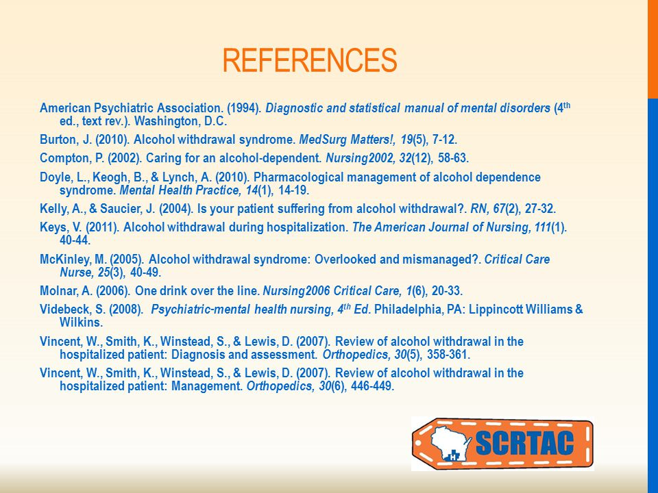 REFERENCES American Psychiatric Association. (1994).