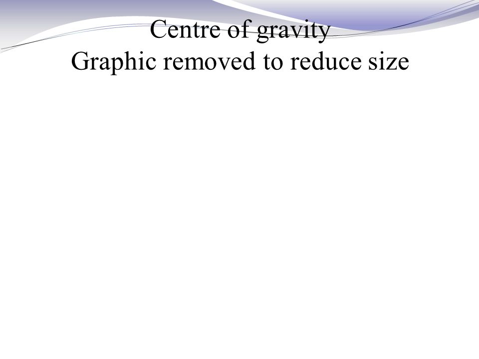 Centre of gravity Graphic removed to reduce size