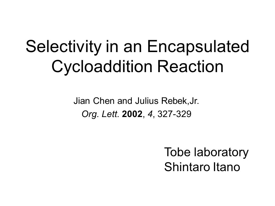 Contents Introduction Self-assembly Cage-shaped molecular complexes Previous work Purpose of this work Results and discussion 1,3-Dipolar cycloaddition 1 H NMR Measurement Equilibrium constant and reaction rate Conclusion