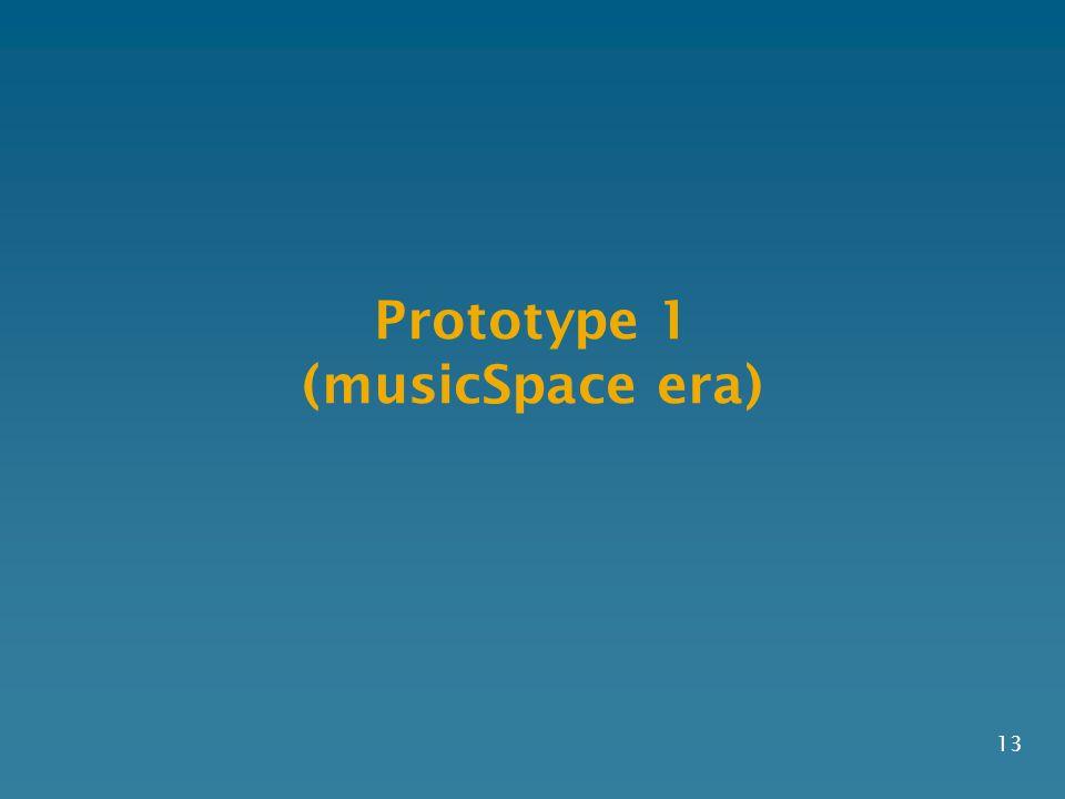 Prototype 1 (musicSpace era) 13