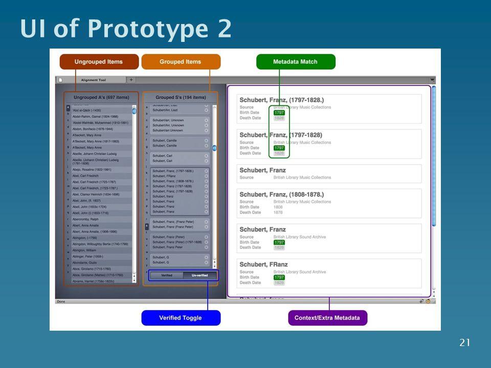 UI of Prototype 2 21