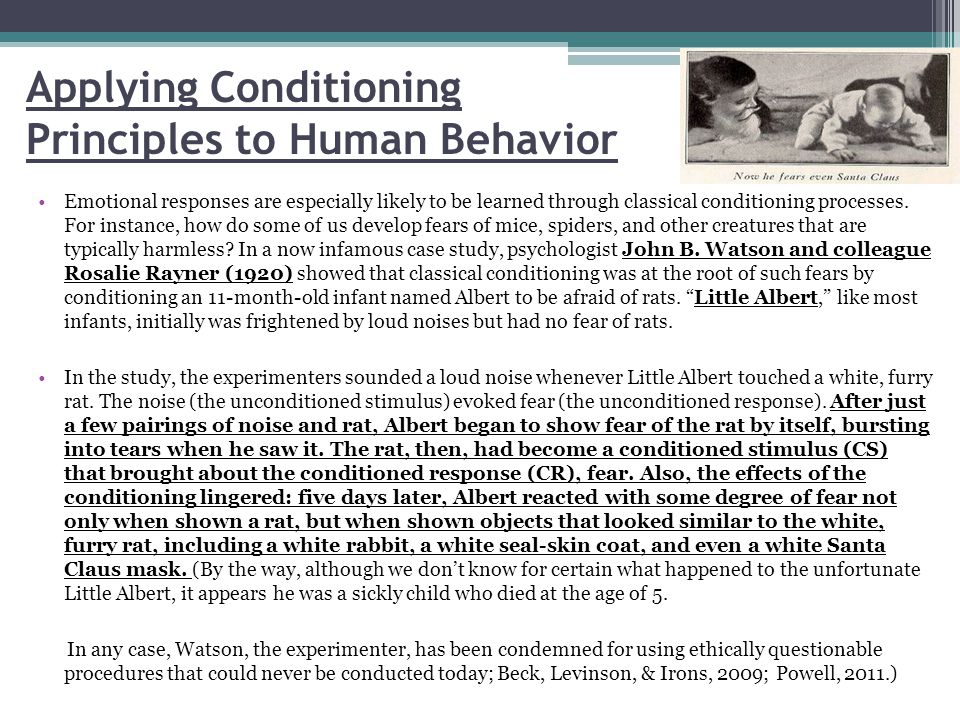 Learning by Means of Classical Conditioning Also Occurs During Adulthood.