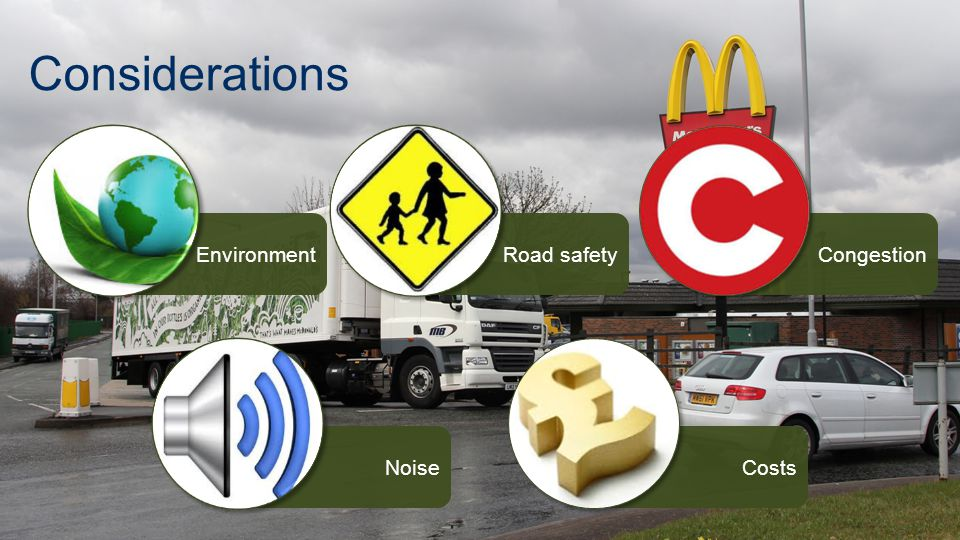EnvironmentNoiseCongestionRoad safetyCosts Considerations