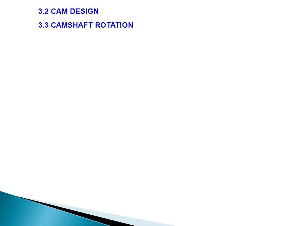 3.3 CAMSHAFT ROTATION