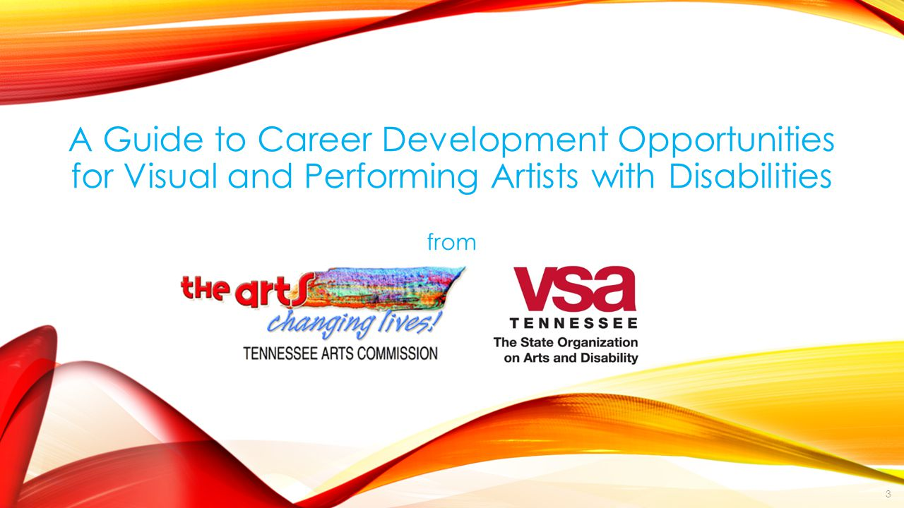 A Guide to Career Development Opportunities for Visual and Performing Artists with Disabilities from 3