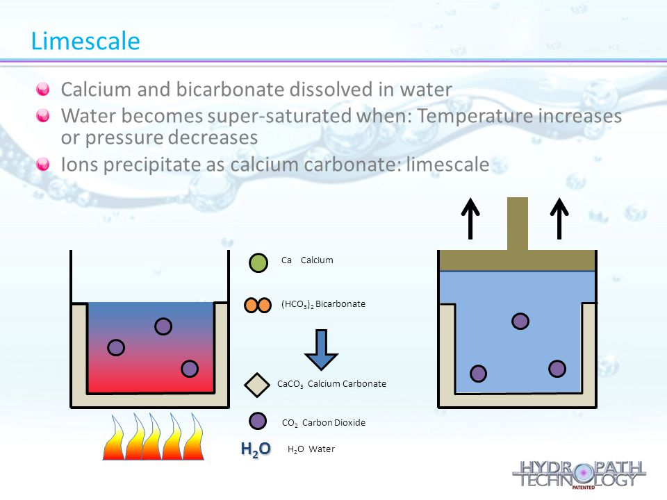 Calcium and bicarbonate dissolved in water Water becomes super-saturated when: Temperature increases or pressure decreases Ions precipitate as calcium