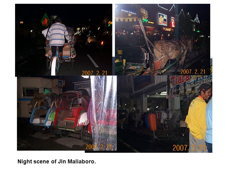 Night scene of Jln Maliaboro.