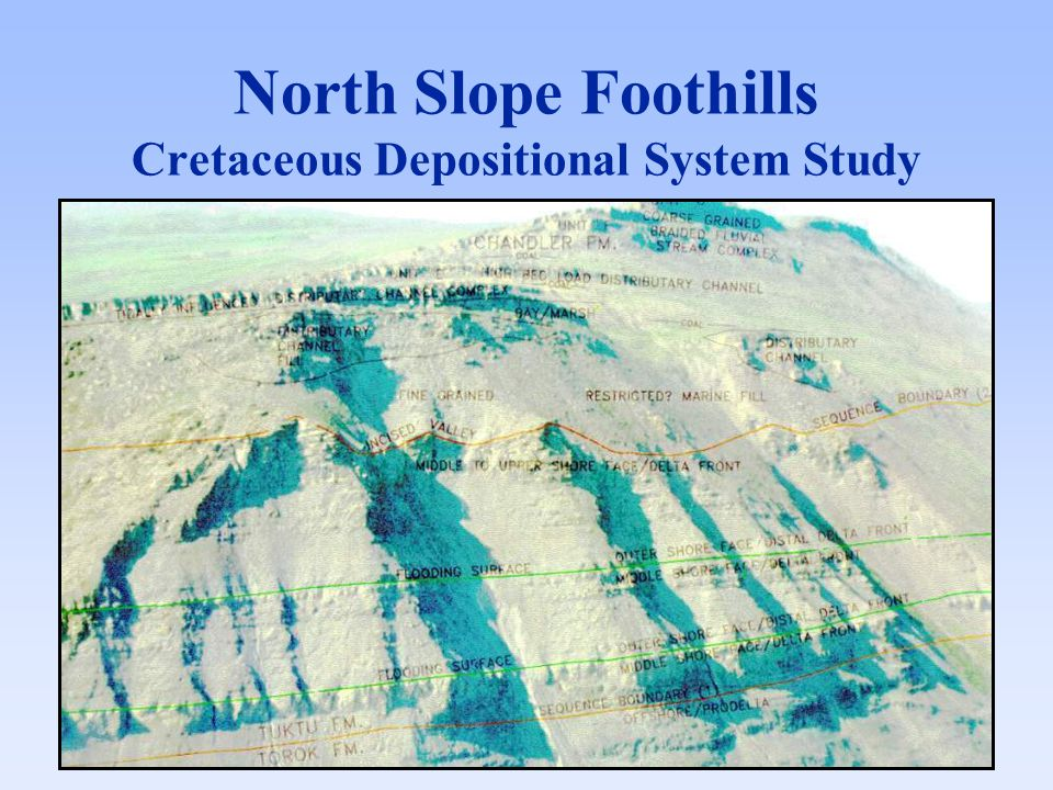 North Slope Foothills Cretaceous Depositional System Study