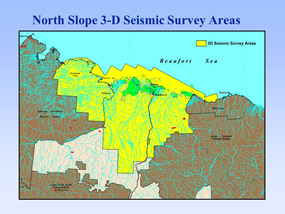 North Slope 3-D Seismic Survey Areas