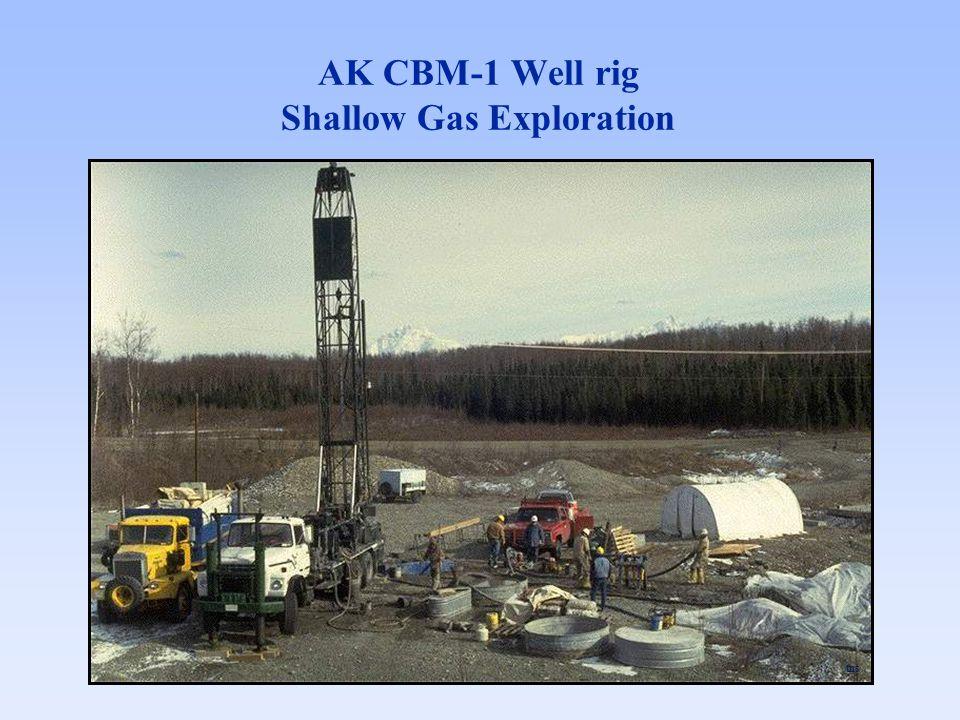 AK CBM-1 Well rig Shallow Gas Exploration tns