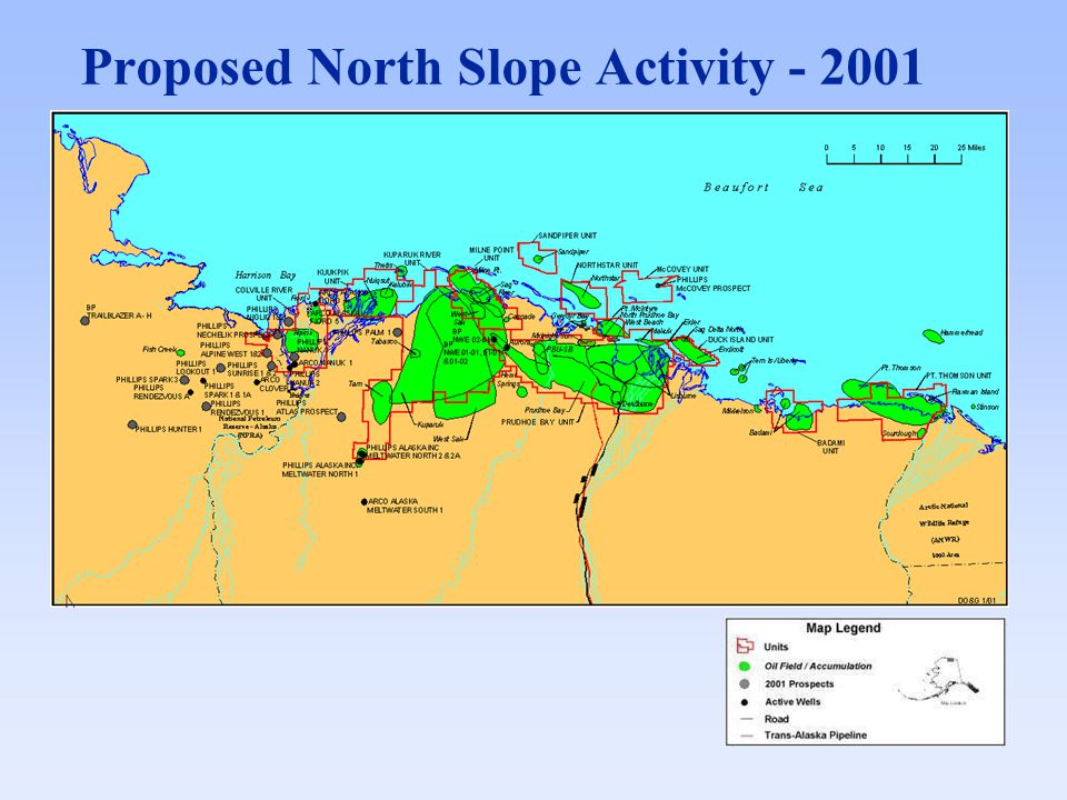 Proposed North Slope Activity - 2001