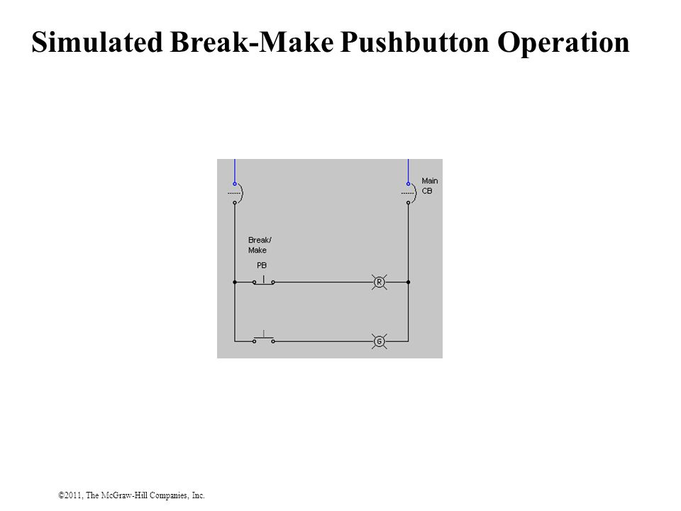 ©2011, The McGraw-Hill Companies, Inc. Simulated Break-Make Pushbutton Operation