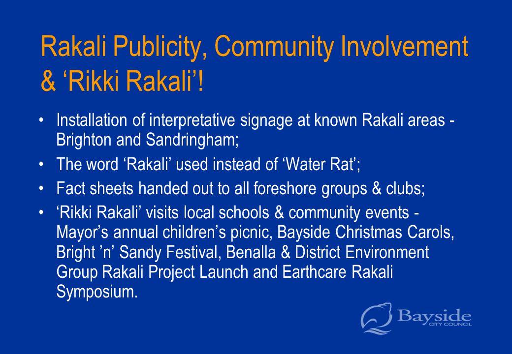 Rakali Publicity, Community Involvement & 'Rikki Rakali'.