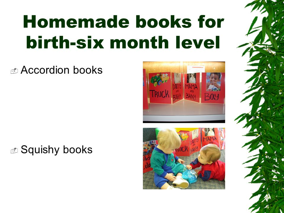 Homemade books for birth-six month level  Accordion books  Squishy books
