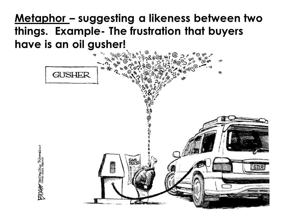 Metaphor – suggesting a likeness between two things.