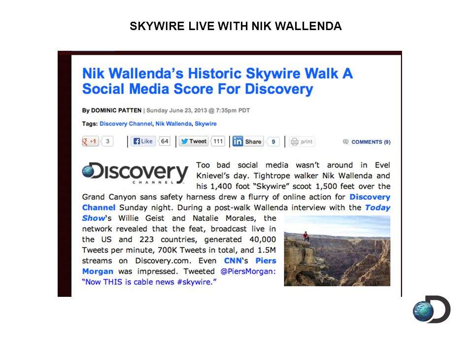 SKYWIRE LIVE WITH NIK WALLENDA
