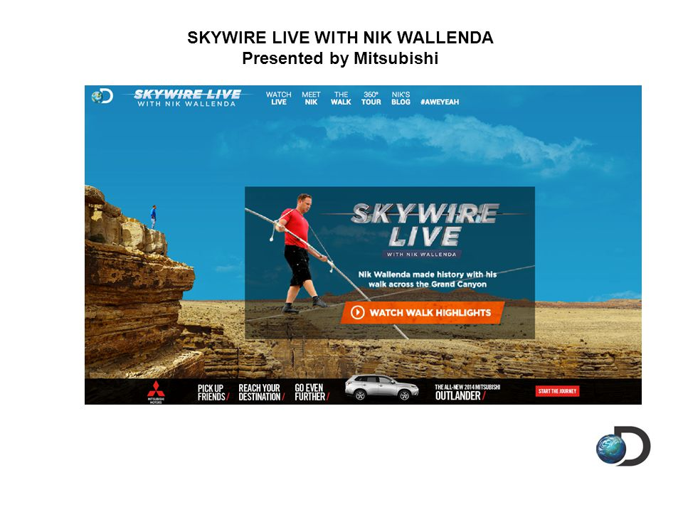 SKYWIRE LIVE WITH NIK WALLENDA Presented by Mitsubishi