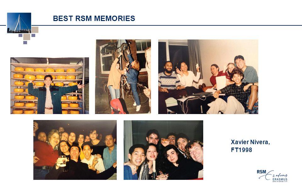 BEST RSM MEMORIES Xavier Nivera, FT1998