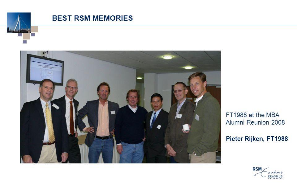 BEST RSM MEMORIES FT1988 at the MBA Alumni Reunion 2008 Pieter Rijken, FT1988