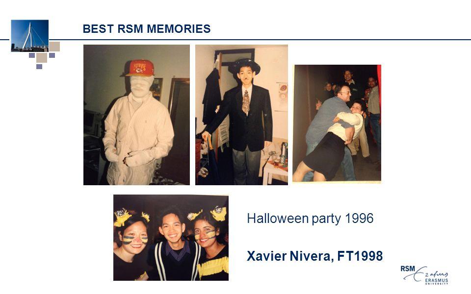 BEST RSM MEMORIES Halloween party 1996 Xavier Nivera, FT1998