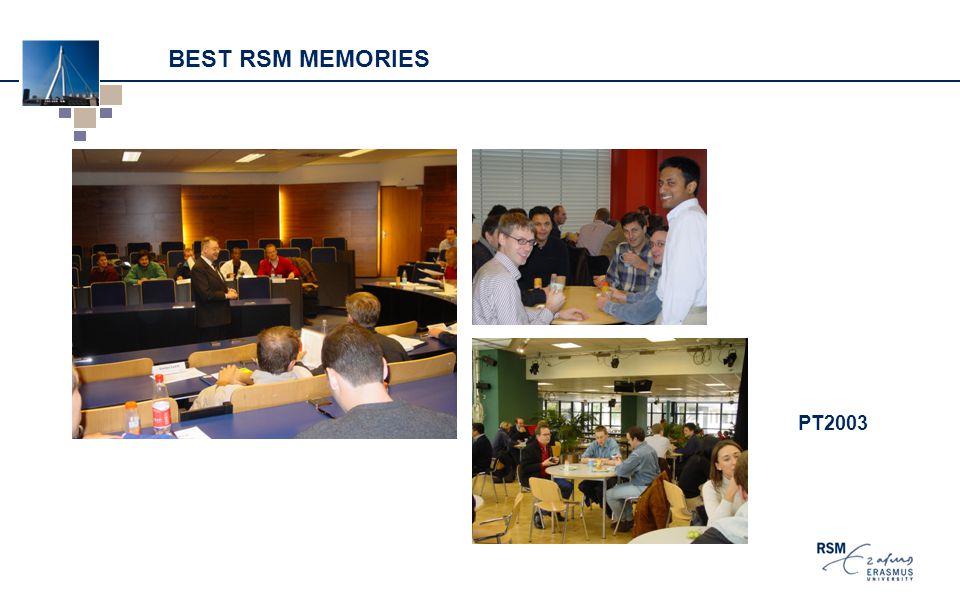 BEST RSM MEMORIES PT2003