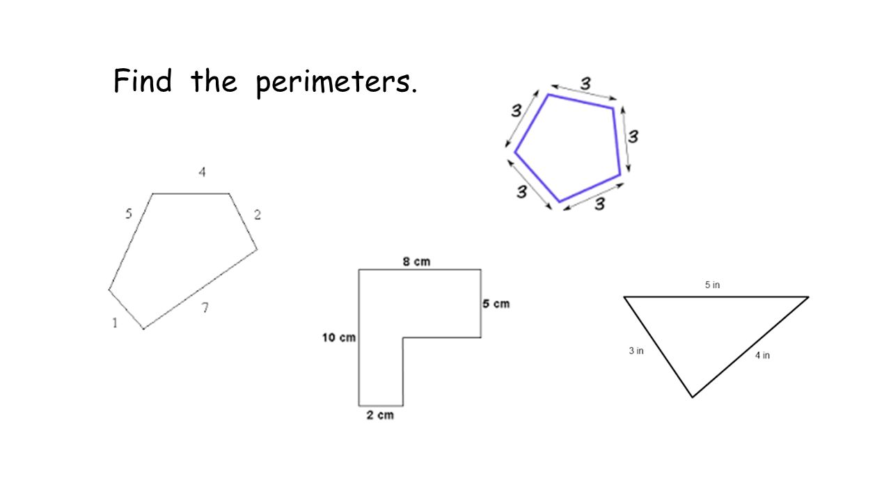 Find the perimeters.