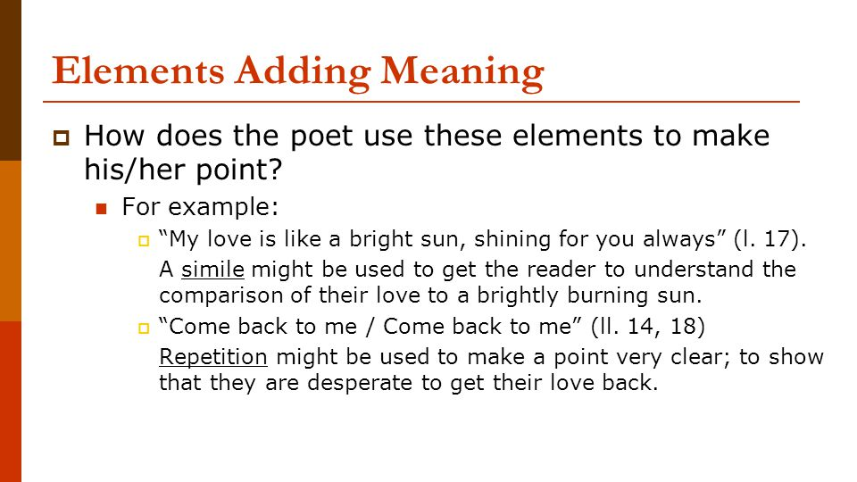 How to write an essay to describe overall meaning of a poem?