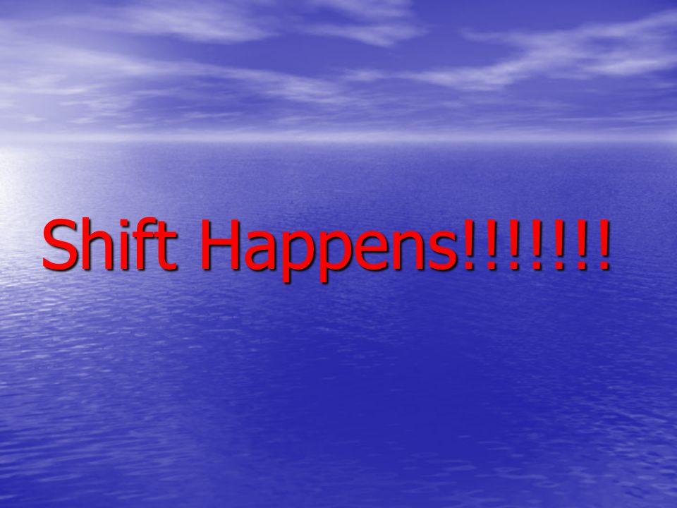 Shift Happens!!!!!!!