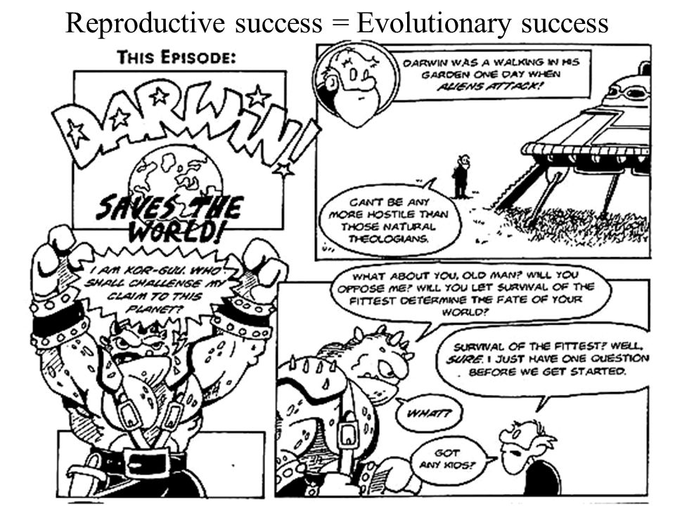 Reproductive success = Evolutionary success