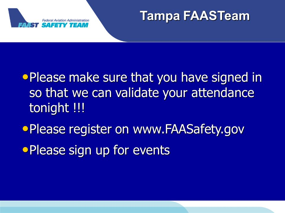 Tampa FAASTeam TERPS Terminal Instrument Procedures STARsDPs RNAV and VOR