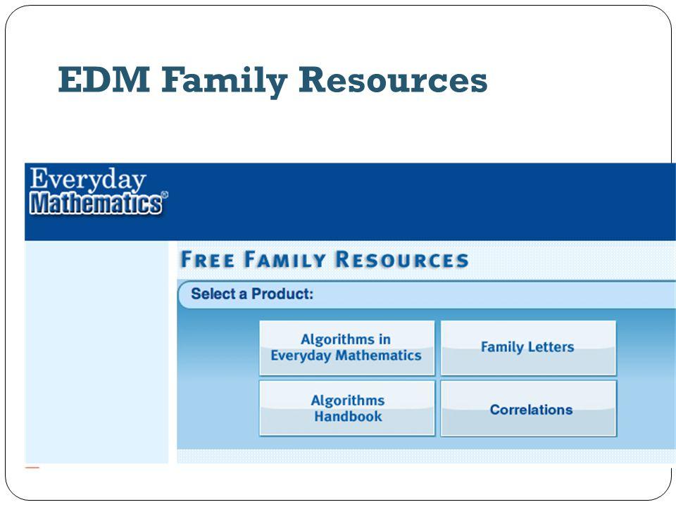 EDM Family Resources