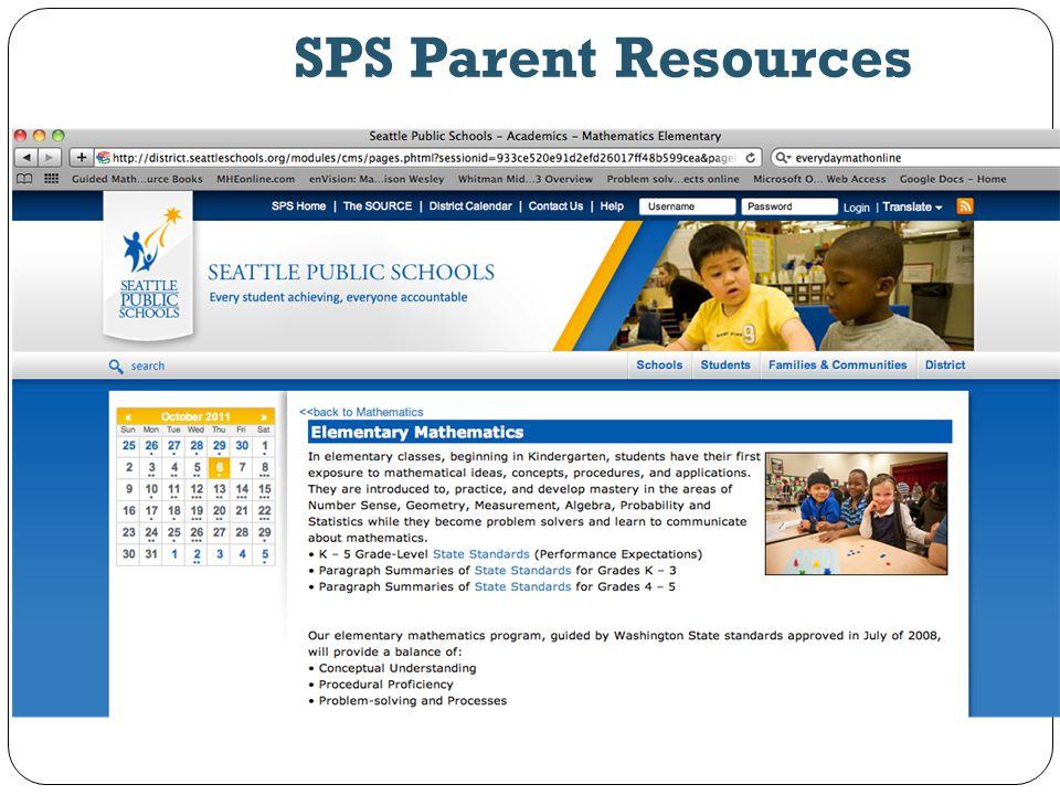 SPS Parent Resources