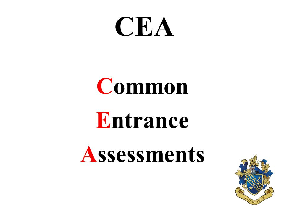 CEA Common Entrance Assessments