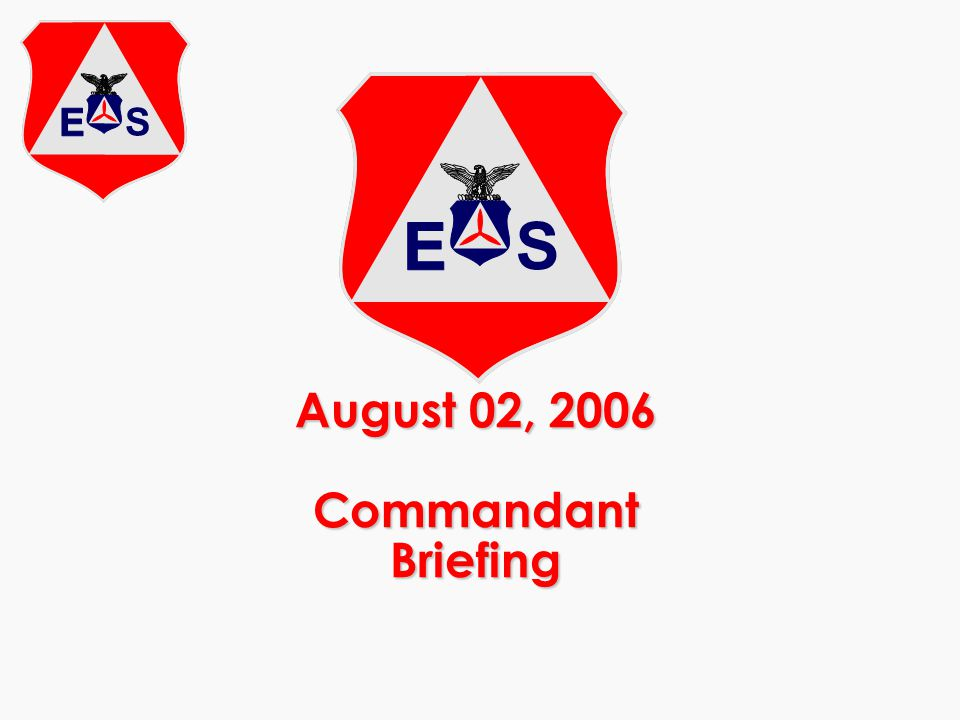 August 02, 2006 Commandant Briefing