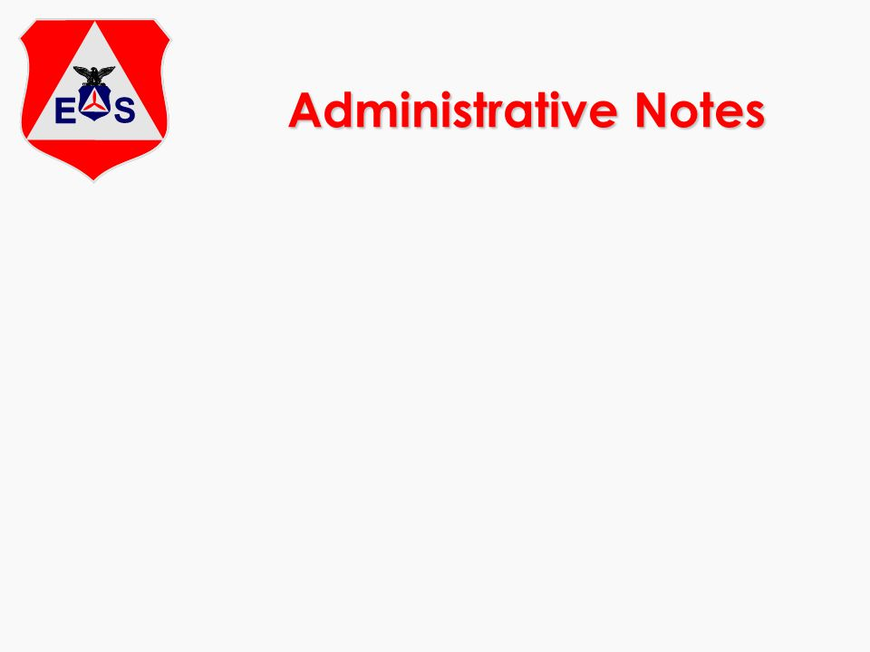 Administrative Notes