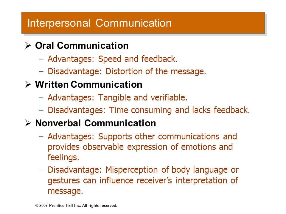 Nonverbal Communication Body Movement Facial Expressions Intonations © 2007 Prentice Hall Inc.