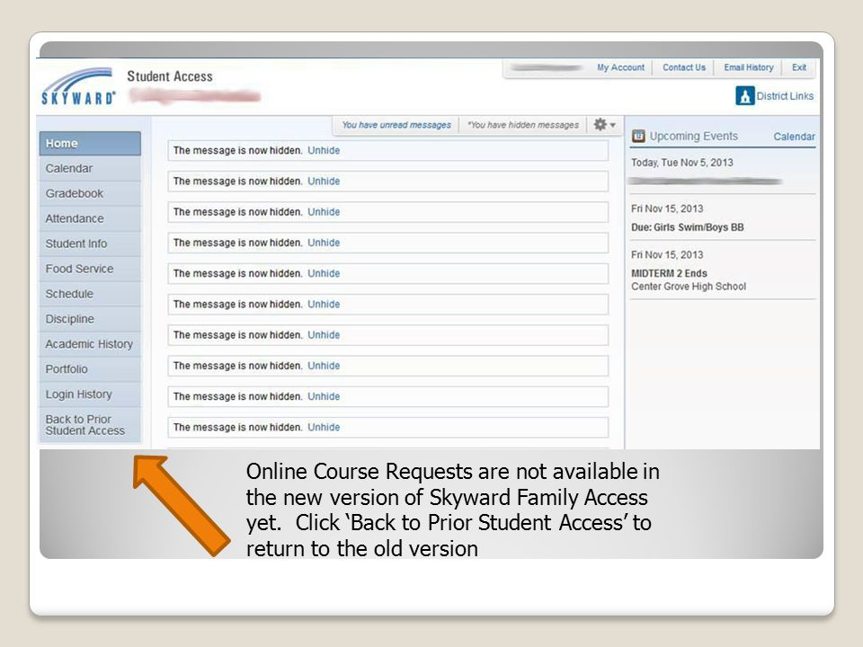 Online Course Requests are not available in the new version of Skyward Family Access yet.