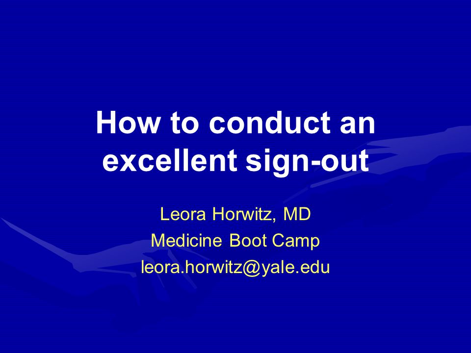 Why is sign-out important? Frequent Skill set Potentially dangerous