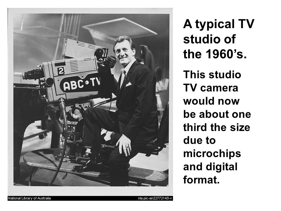 A typical TV studio of the 1960's.